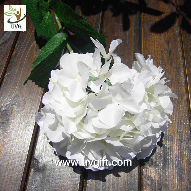 UVG FHY21 Flower artificial wedding bouquets silk hydrangea for wedding stage decoration