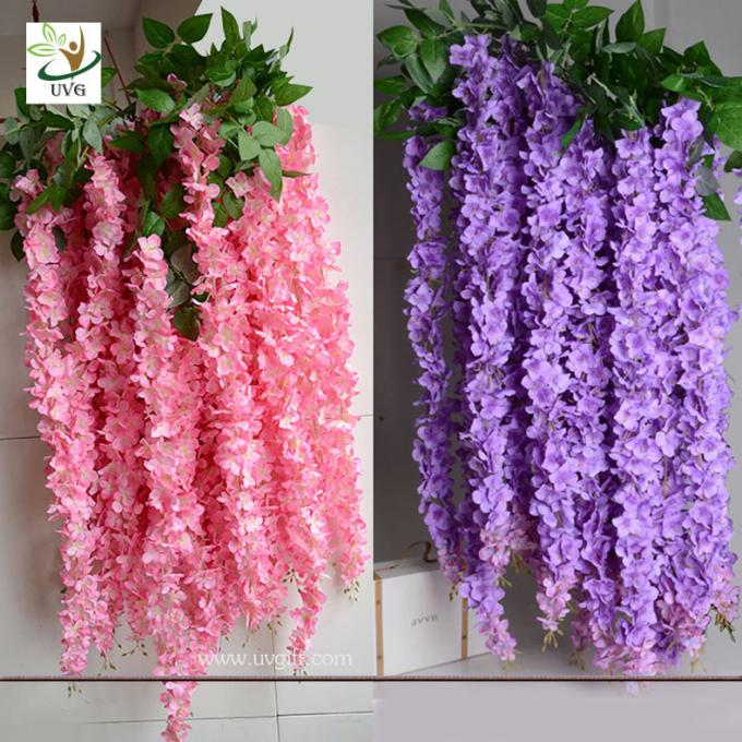 UVG WIS007 6m pink huge silk wisteria blossom fake trees for weddings