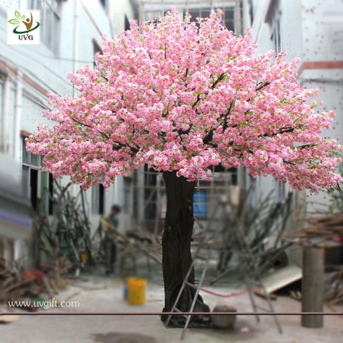 UVG 15ft Pink artificial japanese cherry blossom tree for wedding and party decoration