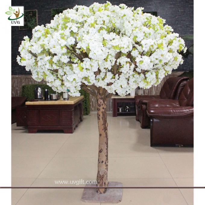 UVG CHR038 table use decorative small white artificial blossom cherry trees for sale