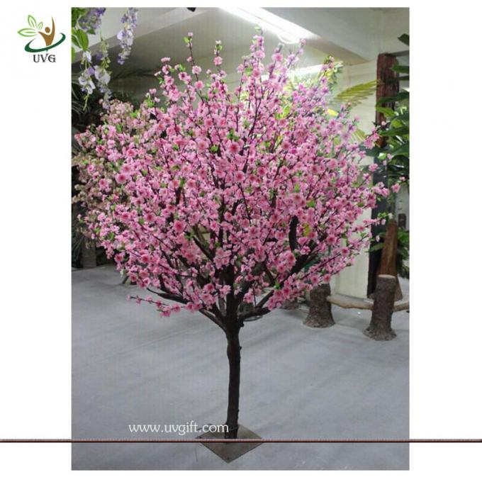 UVG CHR053 pink cherry blossom bonsai tree with artificial flowers for party decoration