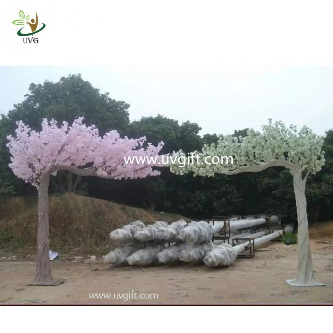 UVG Indoor pink cherry trees artificial blossom for party decoration
