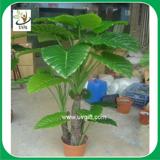 UVG PLT11 faux plants small alocasia macrorrhizos bonsai for living room landscaping