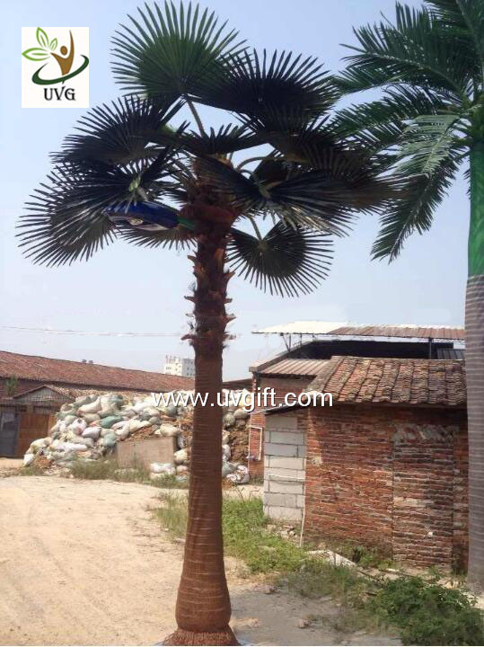 UVG PTR046 artificial palm tree with lights outside road decoration