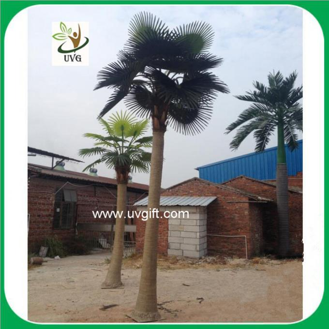 UVG PTR035 outdoor artificial washington palm tree with fan leaves for park landscaping