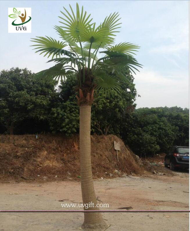 UVG PTR038 eco friendly decorative outdoor fake palm trees for sale