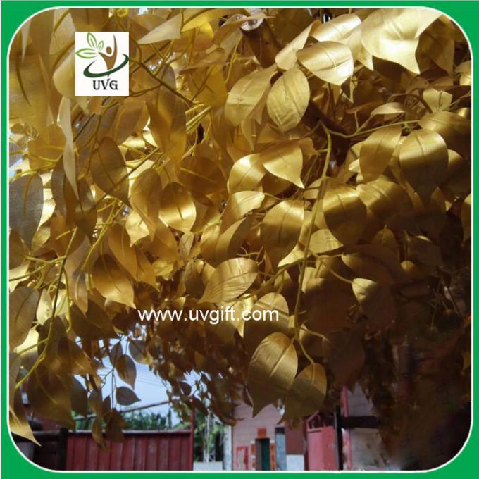 UVG GRE042 gold banyan leaves outdoor artificial trees for festival landscaping