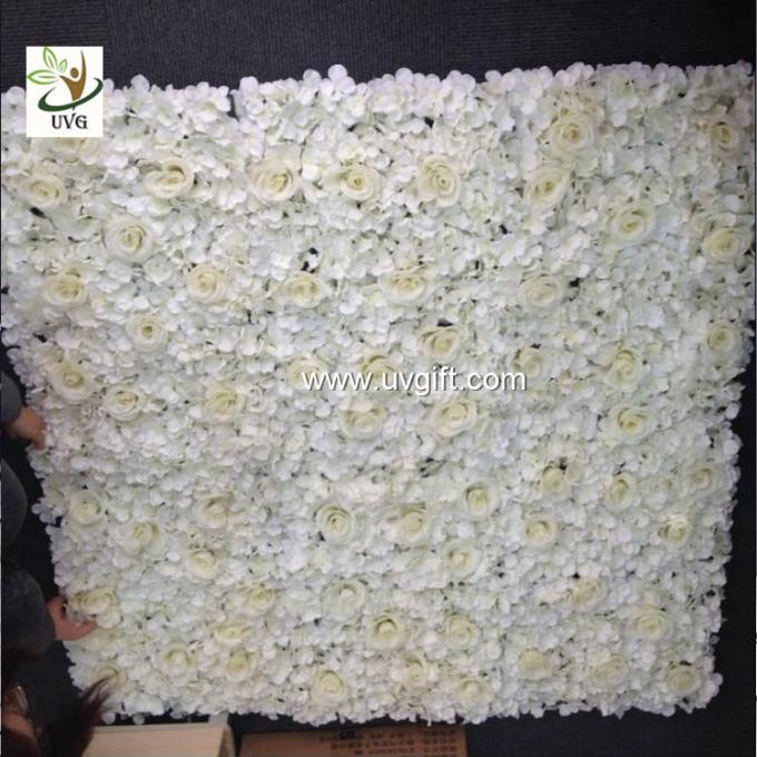 UVG 5ft rose wall weddings in white artificial silk hydrangea flowers for party backdrops CHR1126