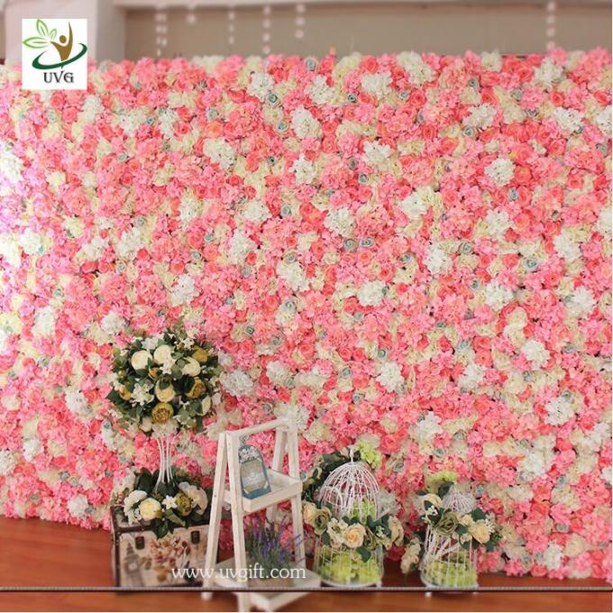 UVG stunning artificial wedding decoration flower stand for bridal exhibition and party backdrops CHR1132