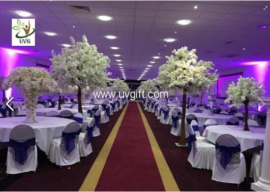 UVG Artificial cherry and hydrangea wedding table tree centerpieces for wedding decoration
