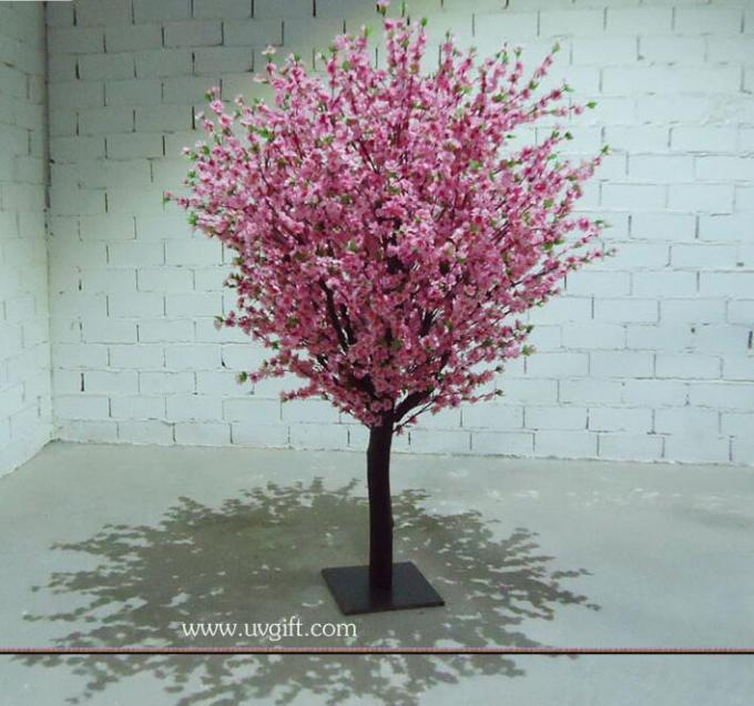 UVG CHR075 Pink Peach Blossom Decorative Artificial Wooden Tree for Wedding and Party Lan