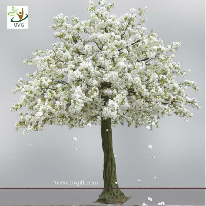 UVG 13ft white artificial cherry blossom tree with fiberglass trunk for wedding decoration