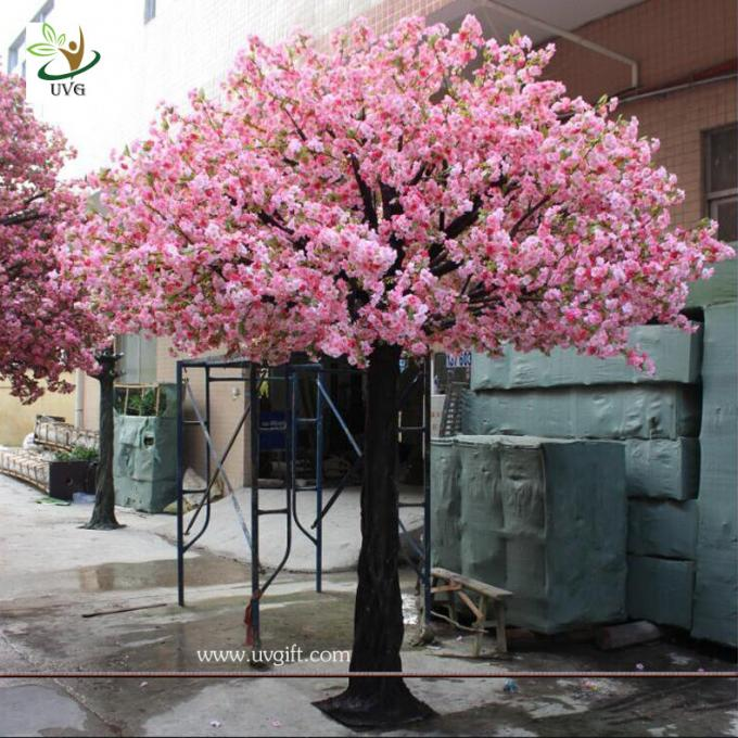 UVG 10ft pink artificial blossom tree with silk cherry flowers for indoor event decoration