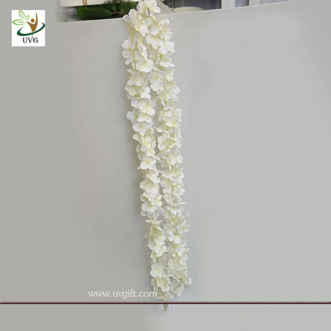 UVG 2m long romantic classic silk flowers artificial wisteria garland for wedding decor