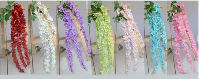 UVG Indoor cheap fake flowers with wisteria branches for church wedding decoration WIS006