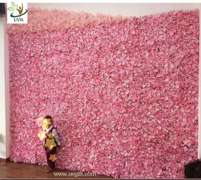 UVG cheap wedding backdrop design plastic grid artificial flower wall and arch for wedding decor CHR1142