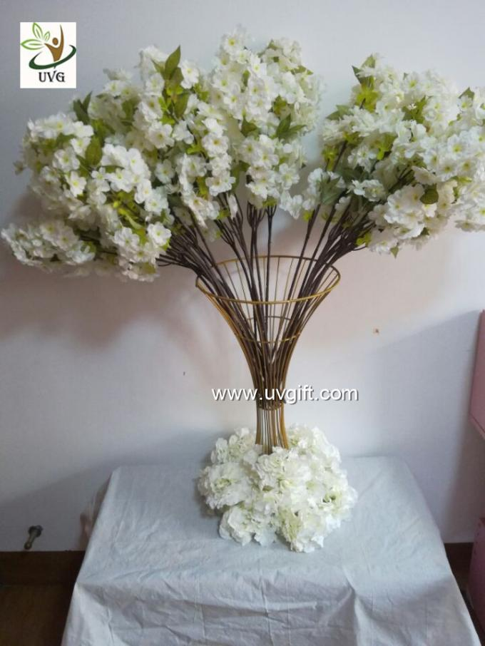 UVG Tree branches for centerpieces with white artificial cherry blossom indoor wedding use CHR091