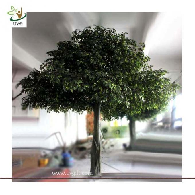 UVG glassfiber indoor green fake banyan tree tall silk trees for shopping center decoration GRE054