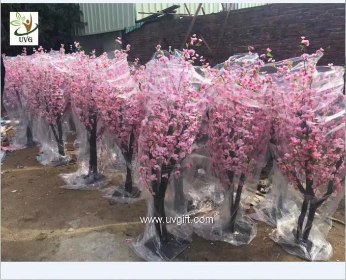 UVG china wedding supplies party decoration pink artificial peach blossom trees for sale CHR152