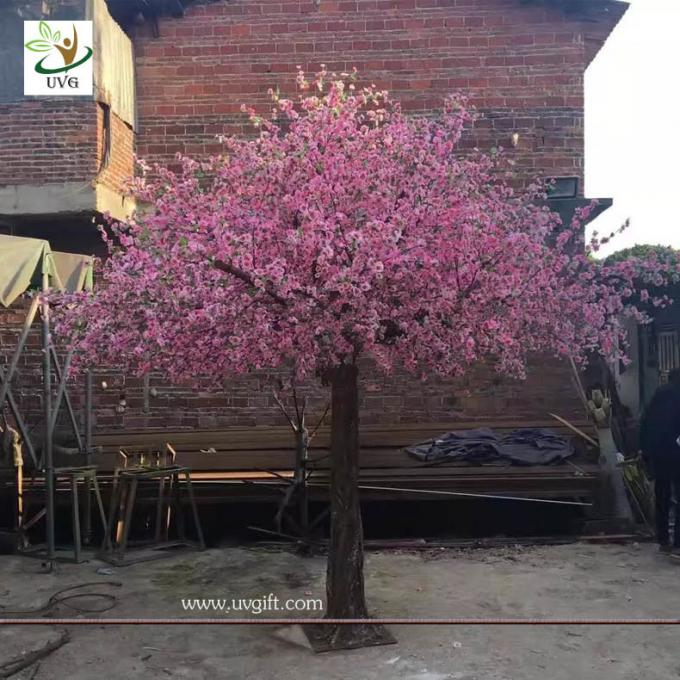 UVG garden wedding decorations fake blossom tree with pink peach flowers 3 meters height CHR154