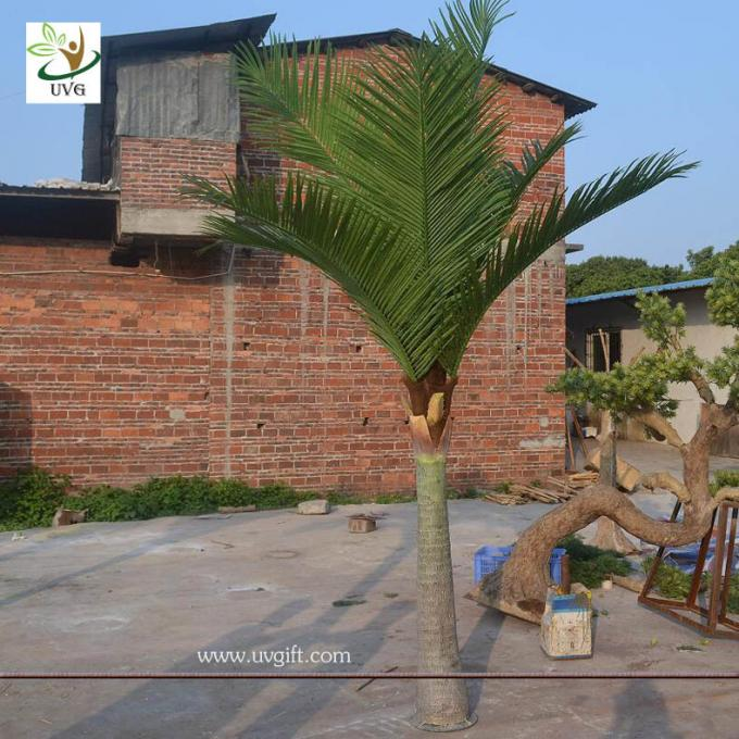 UVG wedding arrangements cheap plastic coconut leaves indoor artificial palm trees for table decorations