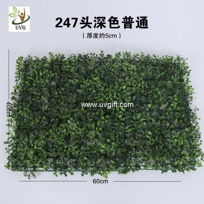 UVG 60*40cm fake outdoor plants artificial boxwood mat for green wall decoration GRS10