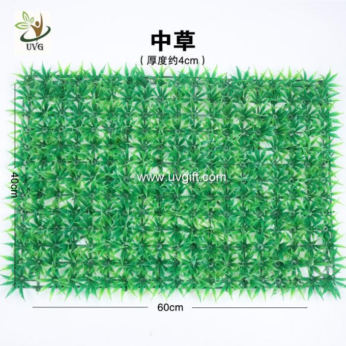 UVG plastic decoration green pathway artificial turf for home garden landscaping GRS28