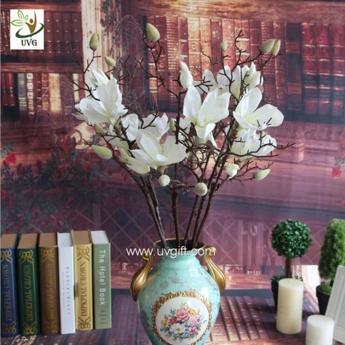 UVG diy wedding decorations silk magnolia branches faux flowers for table centerpieces FMA58