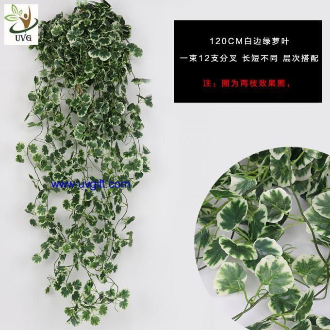 UVG home garden use 120cm long fake vine plants artificial ivy with silk leaves for wall decoration AHP01