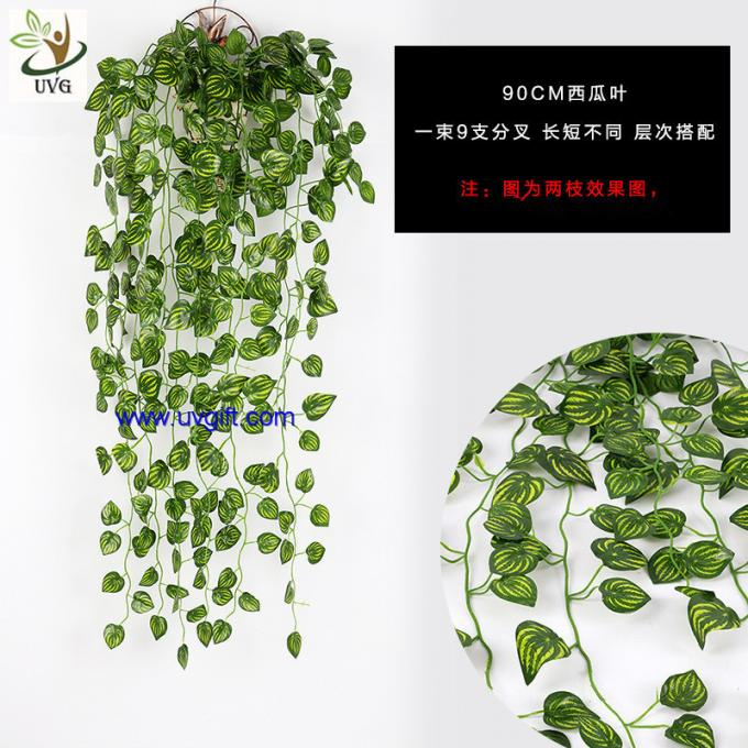 UVG 90cm long artificial grape vines fake ivy with plastic leaf garland for garden ornament BHP01