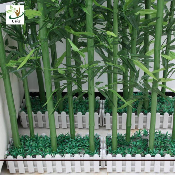 UVG wholesale decorative artificial lucky bamboo in silk and plastic leaves for indoor decoration PLT19