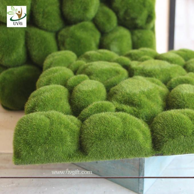 UVG factory direct sale decorative flocking foam artificial moss in green for home garden landscap GRS038