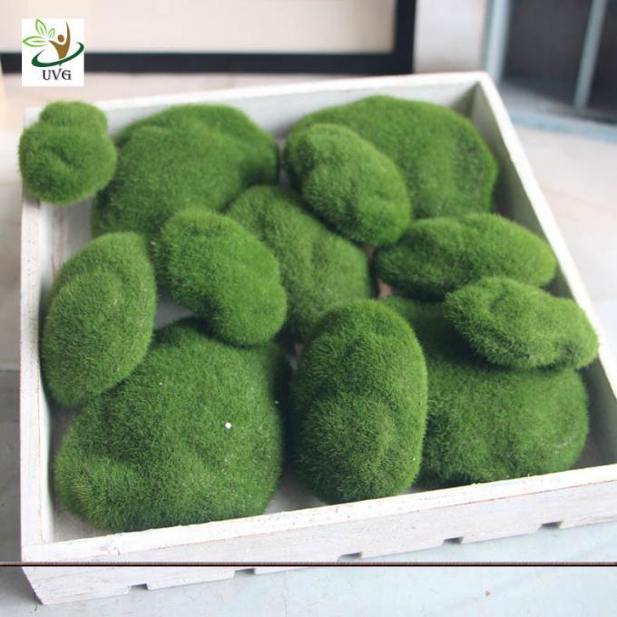 UVG different size fuzzy artificial decorative moss balls fake rock for aquarium landscaping GRS039
