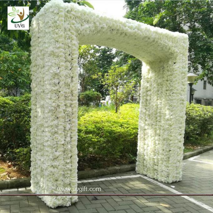 UVG 2.5 meters artificial rose and hydrangea flower entrance for wedding hall decoration CHR1145
