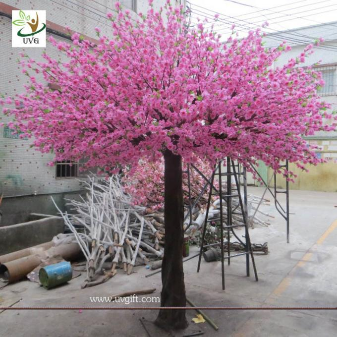 UVG 10 foot pink peach blossom artificial trees indoor for cheap wedding decorations CHR160