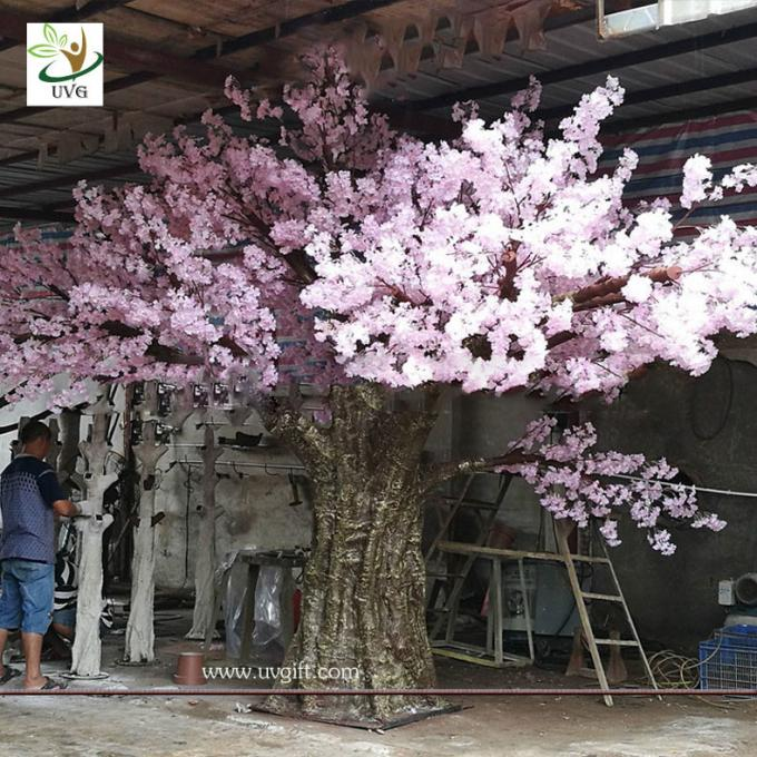 UVG event decoration materials large indoor artificial trees in cherry blossom bouquets CHR163