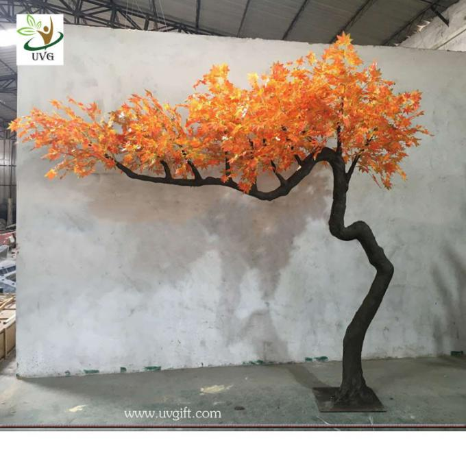 UVG garden ornament autumn fake dwarf maple tree for interior decoration 12ft high GRE071